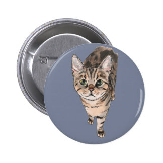 Brown American Shorthair Kitty 6 Cm Round Badge