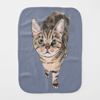 Brown American Shorthair Kitty Burp Cloth