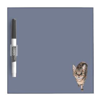 Brown American Shorthair Kitty Dry Erase Board