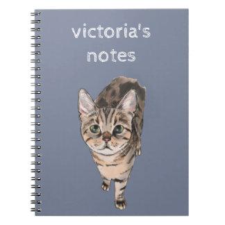 Brown American Shorthair Kitty Spiral Notebook