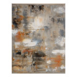 Brown and Beige Abstract Art Poster Print