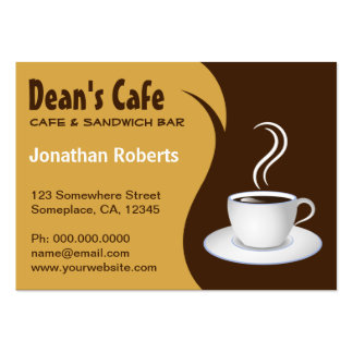 Brown and Beige Coffee Shop Cafe Business Cards Business Card Template
