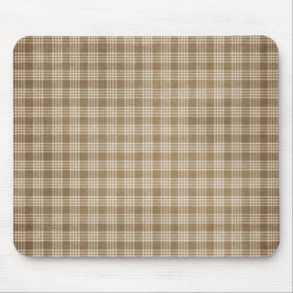 Brown and Beige Mouse Pad