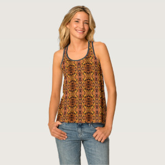 Brown And Black Autumn Tank Top