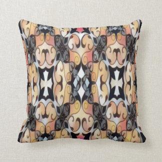brown and black cross cushion