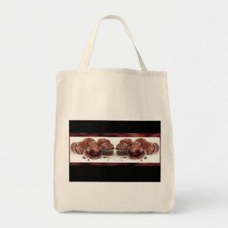 Brown and Black Cupcake Business Card Matching Bag