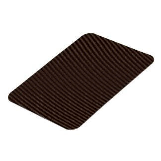 Brown and Black Diagonal Stripes Rectangular Photo Magnet
