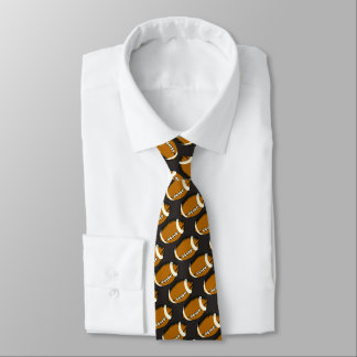Brown and Black Football Sports Tie