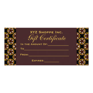 Brown and Black Gift Certificate
