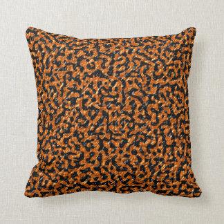 Brown and Black Lizard Cushion