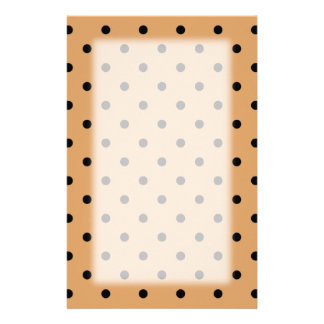 Brown and Black Polka Dot Pattern. Stationery