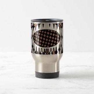 Brown and Black soccer, trophy travel mug. Travel Mug