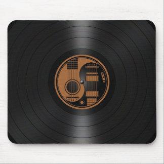 Brown and Black Yin Yang Guitars Vinyl Graphic Mouse Pad
