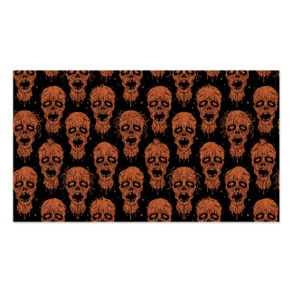 Brown and Black Zombie Apocalypse Pattern Business Card Templates