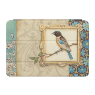Brown and Blue Bird on a Branch Looking Up iPad Mini Cover