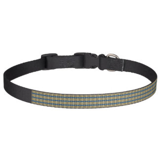 Brown and blue dog collar - Sunset
