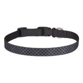 Brown and Blue Mackenzie Clan Reproduction Tartan Pet Collar