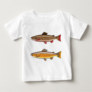 Brown and brook trout tshirt