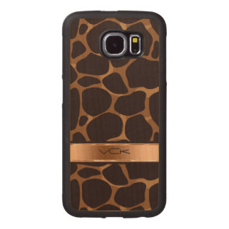 Brown And Copper Leopard Pattern Wood Phone Case