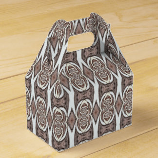 Brown And Cream Abstract Pattern Favour Box