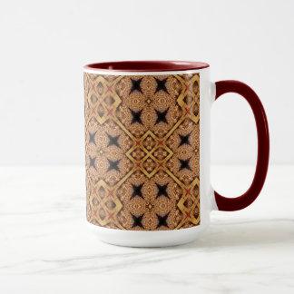 Brown And Cream Mosaic Pattern Mug