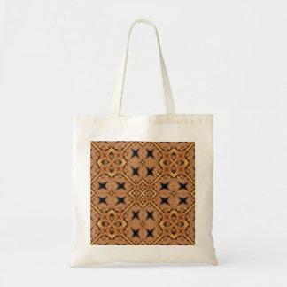 Brown And Cream Mosaic Pattern Tote Bag