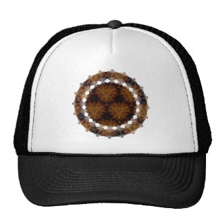 Brown and Gold Abstract Art Pattern Trucker Hats