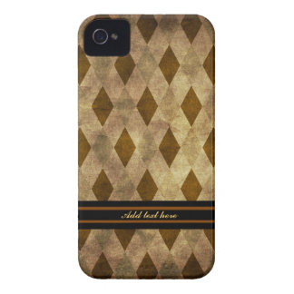 Brown and Gold Argyle Case-Mate