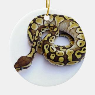Brown and Gold Ball Python 2 Christmas Ornament