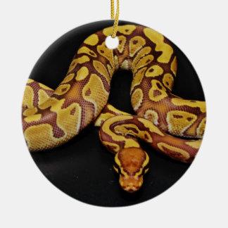 Brown and Gold Ball Python Christmas Ornament