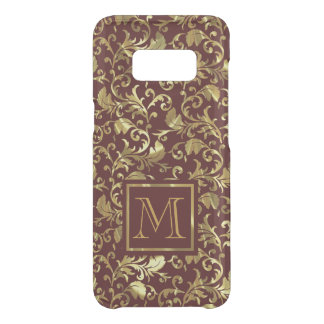 Brown And Gold Damask Uncommon Samsung Galaxy S8 Case