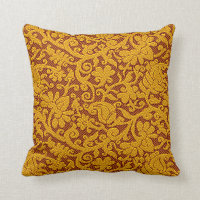 Brown And Gold Rich Indian Brocade Pattern