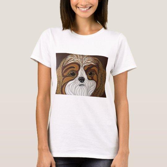 Brown and Gold Shih-Tzu T-Shirt
