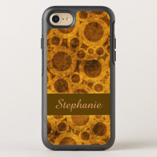 Brown and Gold Steampunk OtterBox iPhone 8/7 Case