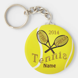 Brown and Gold Tennis Keychains TVHS GIRLS