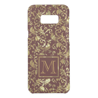Brown And Gold Vintage Damask Uncommon Samsung Galaxy S8 Plus Case