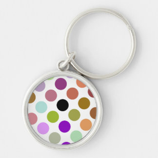 Brown And Green Colorful Dots Key Chains