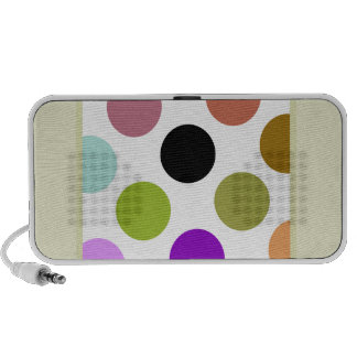 Brown And Green Colorful Dots iPod Speakers