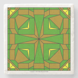 Brown and Green Megalith Stone Beverage Coaster