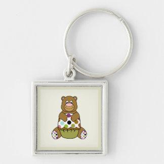Brown And Green Polkadot Bear Key Chains