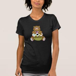 Brown And Green Polkadot Bear T-shirts