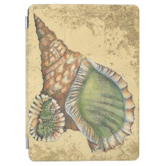 Brown and Green Seashell iPad Air Cover