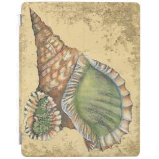 Brown and Green Seashell iPad Cover