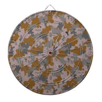 Brown and Grey Camouflage Dartboard