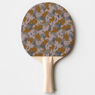 Brown and Grey Camouflage Ping Pong Paddle