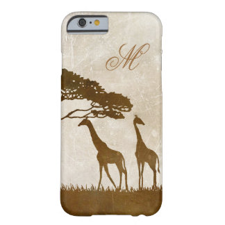 Brown and Ivory African Giraffe Wedding Barely There iPhone 6 Case