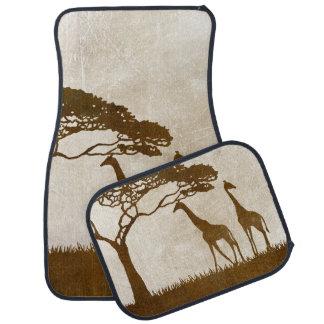 Brown and Ivory African Giraffe Wedding Car Mat