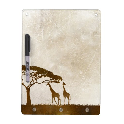 Brown and Ivory African Giraffe Wedding Dry Erase Board