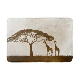 Brown and Ivory African Giraffe Wedding Bath Mats
