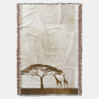 Brown and Ivory African Giraffe Wedding Throw